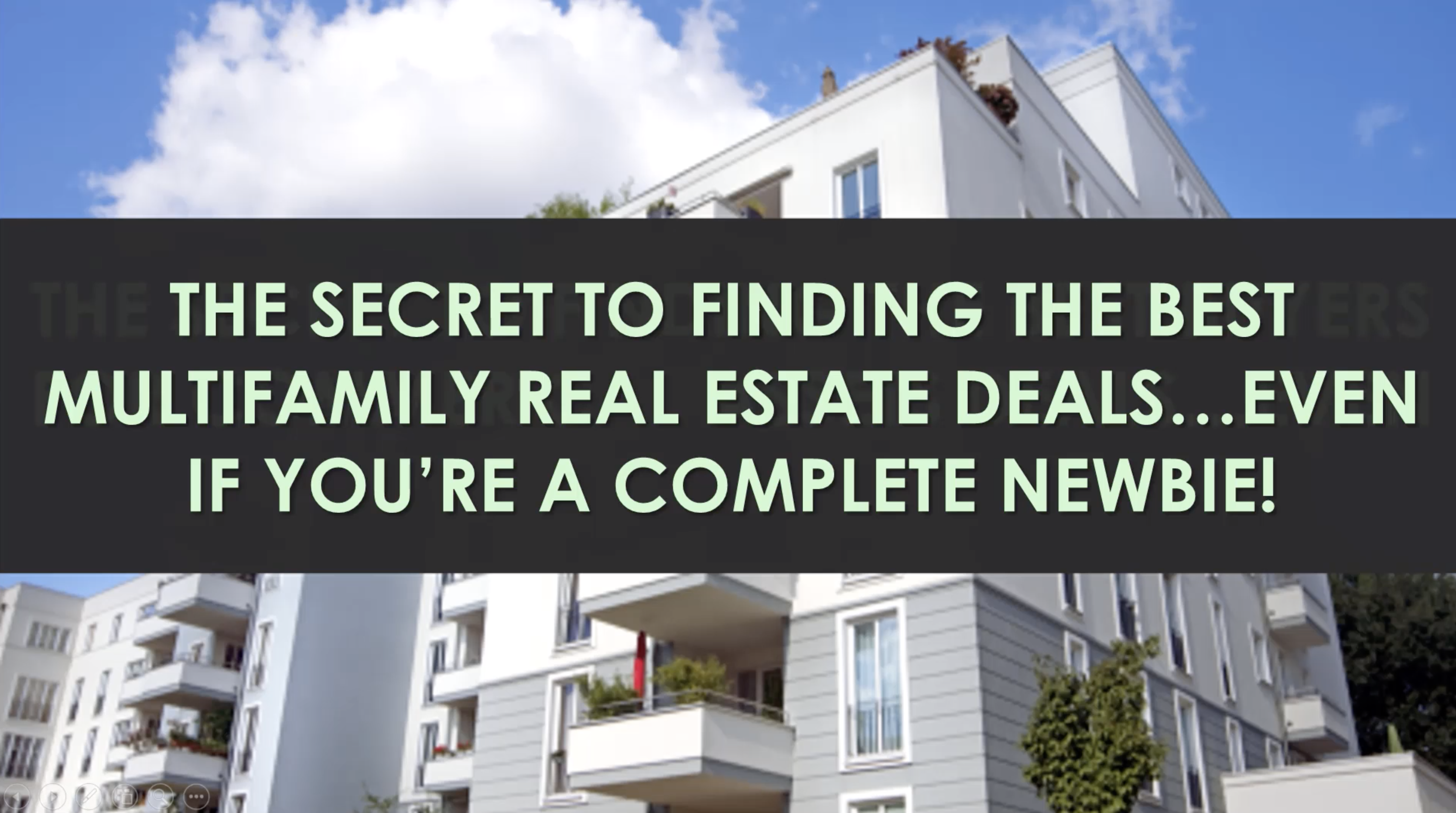 Multifamily Real Estate Investing Simplified Report